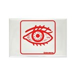 Red Eye Rectangle Magnet (100 pack)