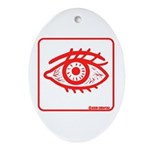 Red Eye Oval Ornament