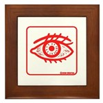 Red Eye Framed Tile