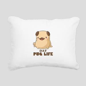 Cute Dat Pug Life Rectangular Canvas Pillow