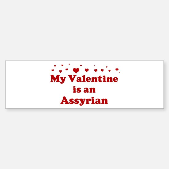 Assyrian Valentine Bumper Bumper Bumper Sticker