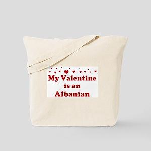 Albanian Valentine Tote Bag