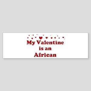 African Valentine Bumper Sticker