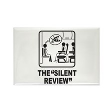 Silent Review Rectangle Magnet