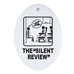 Silent Review Oval Ornament