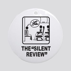 Silent Review Ornament (Round)