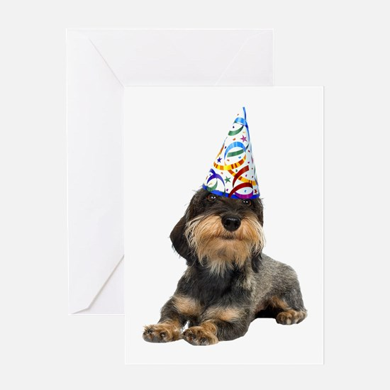 Wirehaired Dachshund Party Greeting Card