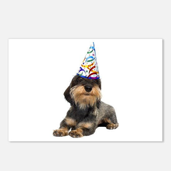 Wirehaired Dachshund Party Postcards (Package of 8