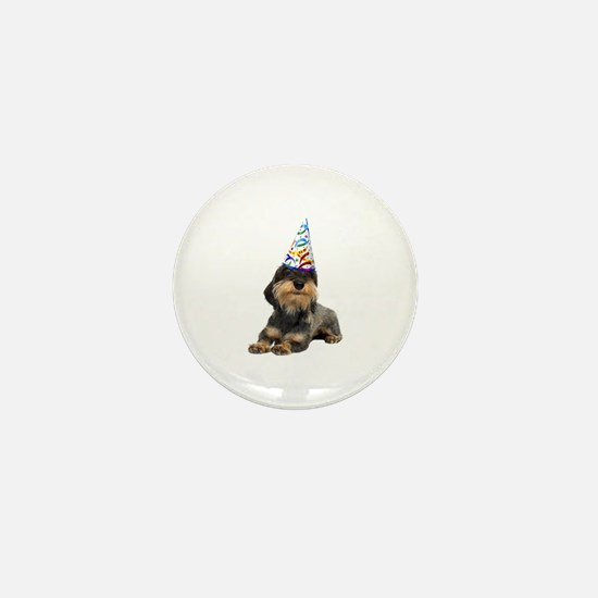 Wirehaired Dachshund Party Mini Button