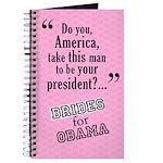 Brides for Obama Wedding Party Planner Journal
