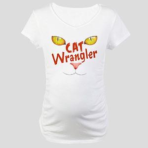 Cat Wrangler Maternity T-Shirt