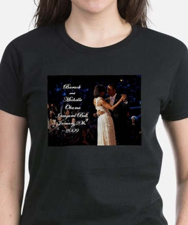 Obamas at the Inaugural Ball Women's Dark T-Shirt