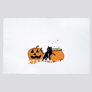 Witchcraft Starter Kit Cat Witch Funny 4' x 6' Rug