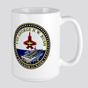 USS George HW Bush CVN-77 Large Mug
