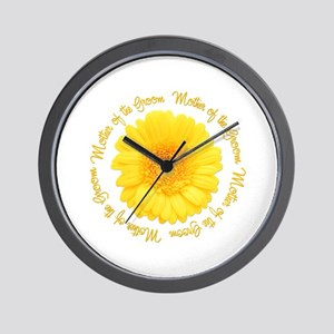 Daisy Mother of the Groom Wall Clock