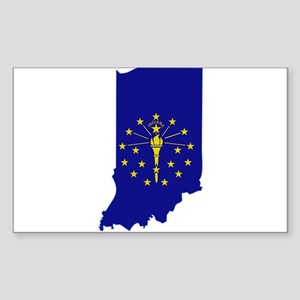 Indiana Stripe Custom Design Rectangle Sticker