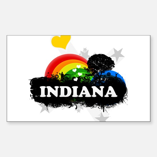 Sweet Fruity Indiana Rectangle Decal
