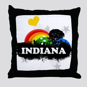 Sweet Fruity Indiana Throw Pillow