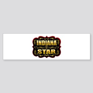 Indiana Star Gold Badge Seal Sticker (Bumper 10 pk
