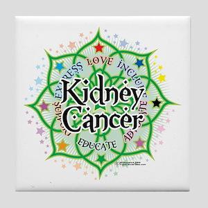 Kidney Cancer Lotus Tile Coaster