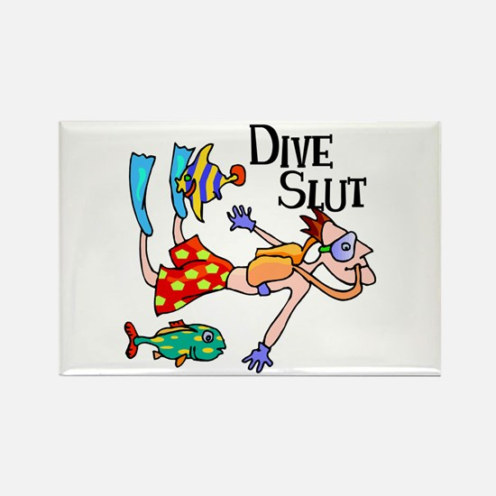 Dive Slut Rectangle Magnet
