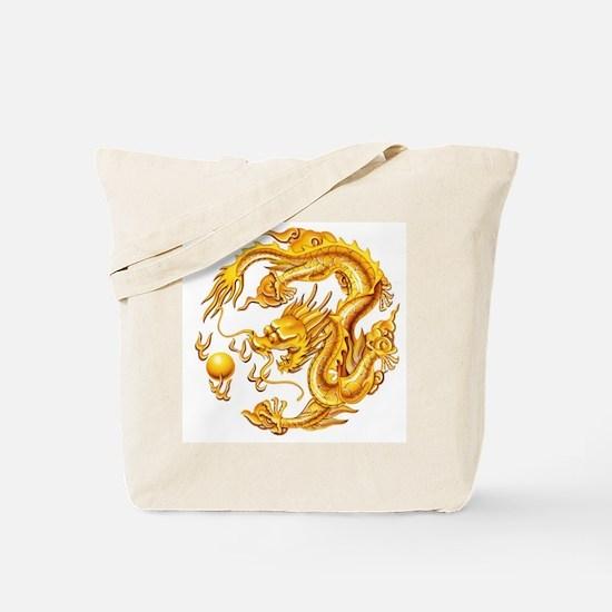 Golden Dragon Tote Bag