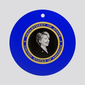 Hillary State Ornament (Round)
