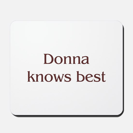 Personalized Donna Mousepad