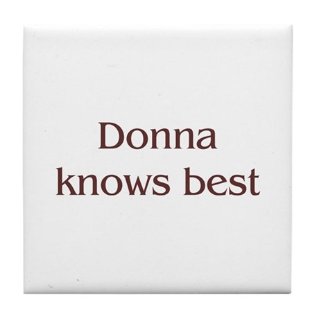 Personalized Donna Tile Coaster