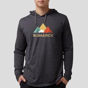 Retro City of Bismarck Mountai Long Sleeve T-Shirt