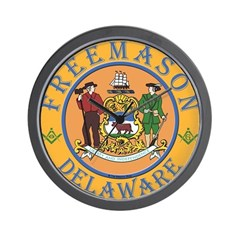 Delaware Masons Wall Clock