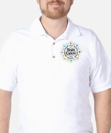 Brain Cancer Lotus Golf Shirt