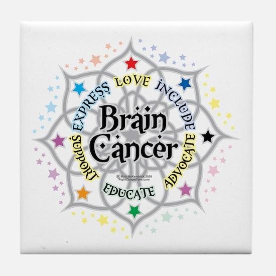 Brain Cancer Lotus Tile Coaster