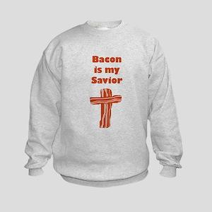 Bacon Savior Kids Sweatshirt