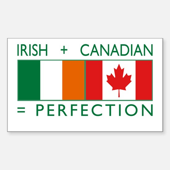 Irish Canadian heritage flag Rectangle Decal