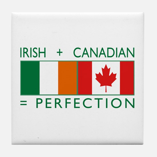 Irish Canadian heritage flag Tile Coaster
