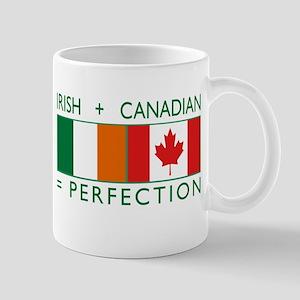 Irish Canadian heritage flag Mug