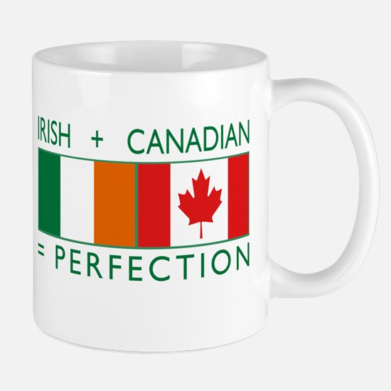 Irish Canadian heritage flag Mug