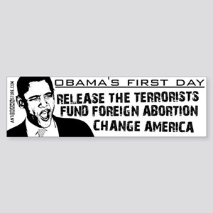 Obama's First Day Bumper Sticker