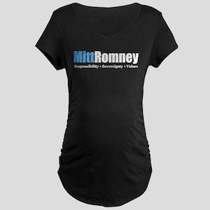 Mitt Romney Maternity Dark T-Shirt