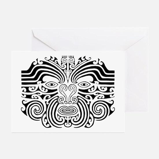 Maori Tatto-black & white Greeting Cards (Pk o