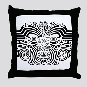 Maori Tatto-black & white Throw Pillow
