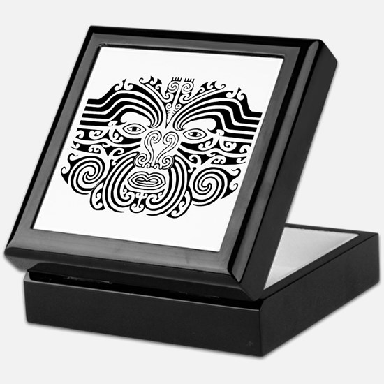 Maori Tatto-black & white Keepsake Box