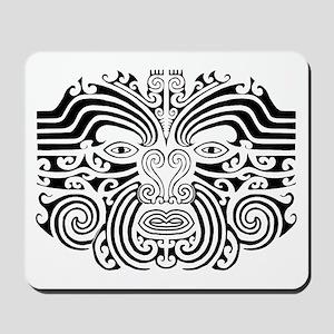 Maori Tatto-black & white Mousepad