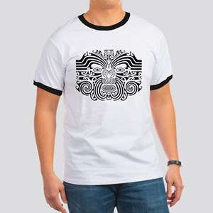 Maori Tatto-black & white Ringer T