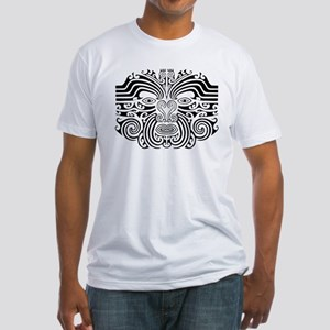 Maori Tatto-black & white Fitted T-Shirt