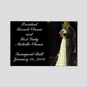 Obama Inaugural Dance Rectangle Magnet