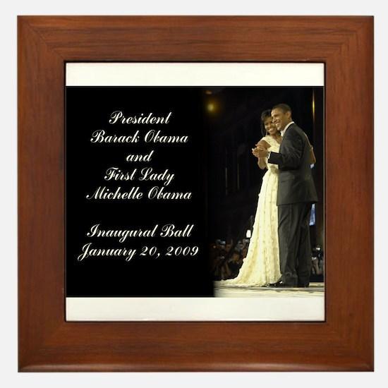 Obama Inaugural Dance Framed Tile