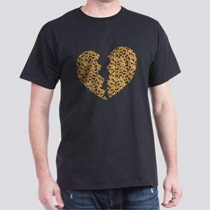 Broken Leopard Heart Dark T-Shirt