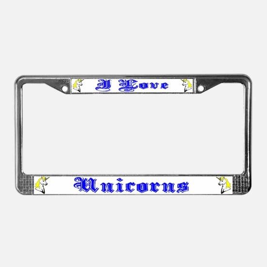 Unicorns License Plate Frame